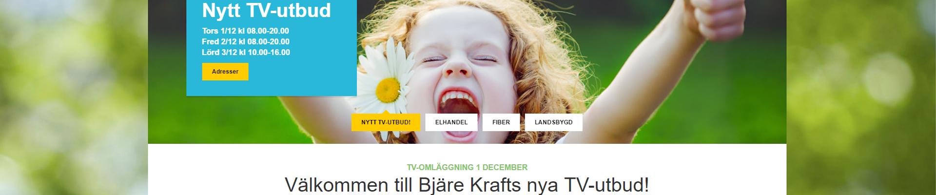 TV-OMLÄGGNING 1 DECEMBER